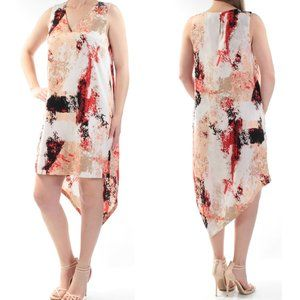 Bar III Asymmetrical Printed Shift Dress Size XXL
